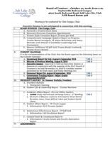 SLCC Board of Trustees 2018-10-10: Agenda