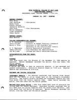 SLCC Board of Trustees 1987-01-14: Minutes