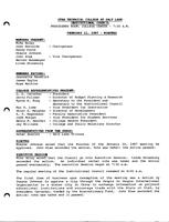 SLCC Board of Trustees 1987-02-11: Minutes