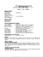 SLCC Board of Trustees 1987-03-11: Minutes