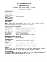 SLCC Board of Trustees 1987-05-13: Minutes