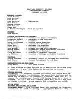 SLCC Board of Trustees 1991-02-13: Minutes