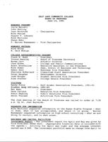 SLCC Board of Trustees 1991-06-12: Minutes