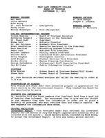 SLCC Board of Trustees 1991-09-11: Minutes