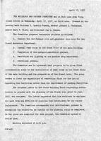 SLCC Board of Trustees 1957-04-17: Building and Grounds Committee Meeting Minutes