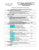 SLCC Board of Trustees 2020-01-29: Agenda