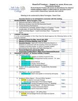 SLCC Board of Trustees 2020-08-12: Agenda