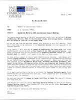SLCC Board of Trustees 1988-03-09: Agenda
