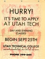 It's Time To Apply at Utah Tech