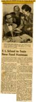S. L. School to Train New Food Hostesses Newspaper Clipping