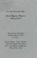 1949-08 Commencement - Salt Lake Area Vocational School, Nursing Program