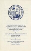 1961-09 Commencement - Salt Lake Trade Technical Institute, Nursing Program