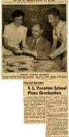 1952-05 Newspaper Clipping of SLAV Graduation with photo of Jay L. Nelson