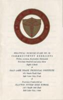1963-09 Commencement - Salt Lake Trade Technical Institute, Nursing Program