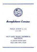 1964-08 Commencement - Salt Lake Trade Technical Institute