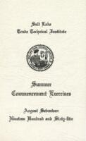 1965-08 Commencement - Salt Lake Trade Technical Institute