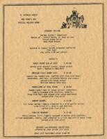 R. Spencer Hines' New Year's Eve Special Holiday Menu