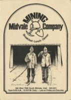 Midvale Mining Company Breakfast, Luncheon, and Dinner Menu