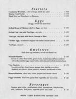 Savory Cafe Breakfast, Luncheon, and Dinner Menu
