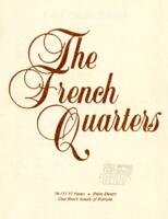 The French Quarters Lounge Menu