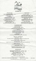 The Grill on Ocean Avenue Lunch Menu