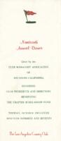 The Los Angeles Country Club Nineteenth Annual Dinner Menu