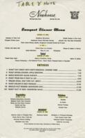 The Newhouse Menu
