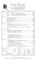The Oishi Noodle Lunch and Dinner Menu
