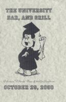 The University Bar and Grill, Wildcat Class of 1979 Luncheon Menu