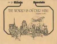 The World is on Our Menu Ethinic Specials Dinner Specials Menu