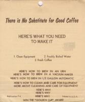 """This is No Substitute for Good Coffee. Here's What You Need to Make it-  """"How to Make Coffee"""" flip chart"""