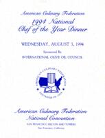 National Chef of the Year Dinner of 1994