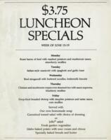 Week of June 15-19 $3.75 Luncheon Specials for R. Spencer Hines