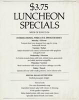 Week of June 23-26 $3.75 Luncheon Specials for R. Spencer Hines