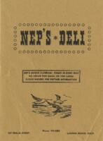 Nep's Deli Luncheon and Dinner Menu