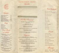 Luncheon and Dinner Menu