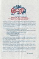 Copeland's Luncheon and Dinner Menu