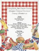 Clearfield Job Corps Center October Festival Carnival Luncheon Menu