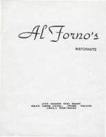 Al Forno's Ristorante Luncheon and Dinner Menu