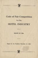Code of Fair Competition for the Hotel Industry, Signed by the President November 17, 1933
