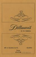 Dillman's On The Peninsula Menu