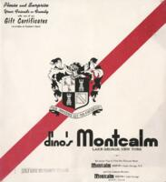Dino's Montcalm Dinner Menu