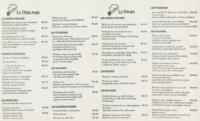French Cuisine Lunch and Dinner Menu