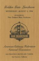 Golden Gate Luncheon for the American Culinary Federation National Convention