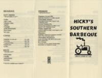 Hicky's Southern Barbecue Dinner Menu
