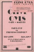 Olive Oyls Cafe and Market Lunch and Dinner Menu