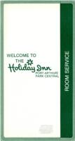 Holiday Inn Hotel Room Service, Breakfast, Luncheon, and Dinner Menu