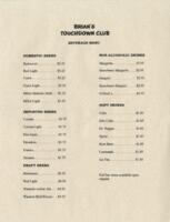 Cafe La Salle Breakfast, Luncheon, and Drinks Menu