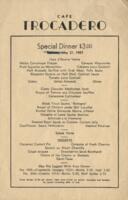 Dunes Hotel and Country Club Room Service Menu