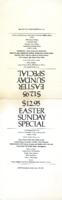Easter Sunday Dinner Specials